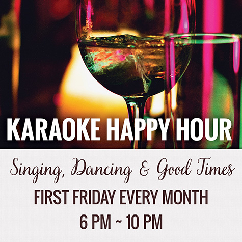 Karaoke Happy Hour flyer