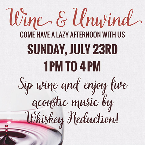 Wine and Unwind flyer