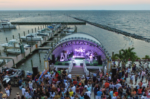 Band shell at Chesapeake Beach Resort & Spa