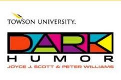 Towson University's Dark Humor Art Exhibit Logo