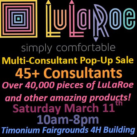 Lularoe at Timonium Fairgrounds flyer