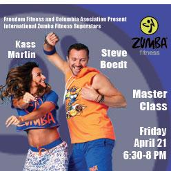 Steve Boedt & Kass Martin Zumba Tour flyer