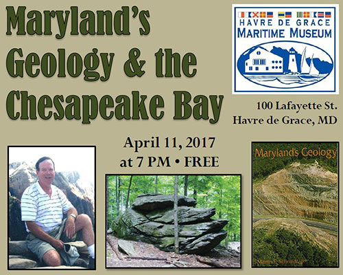 Maryland geology lecture flyer