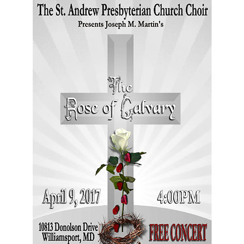 The Rose of Calvary concert flyer