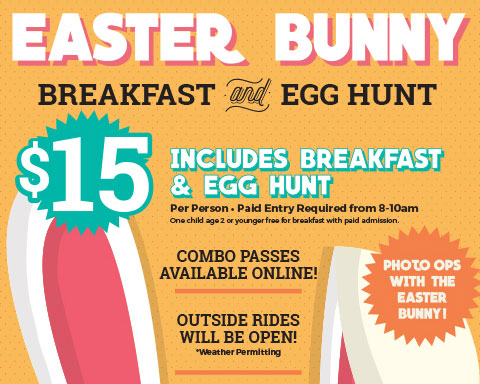 Easter Bunny Breakfast and Egg Hunt poster
