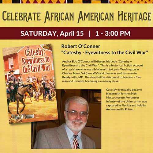 Catesby - Eyewitness to the Civil War event flyer