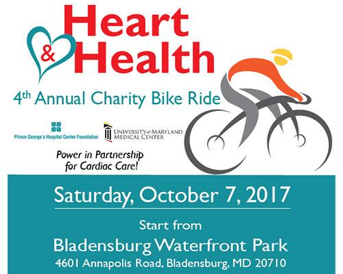 Heart and Health Charity Bike Ride flyer
