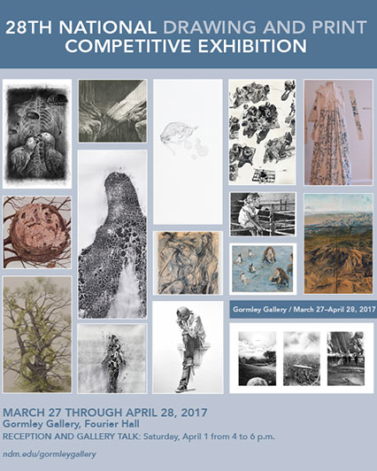 National Drawing & Print Competitive Exhibit flyer