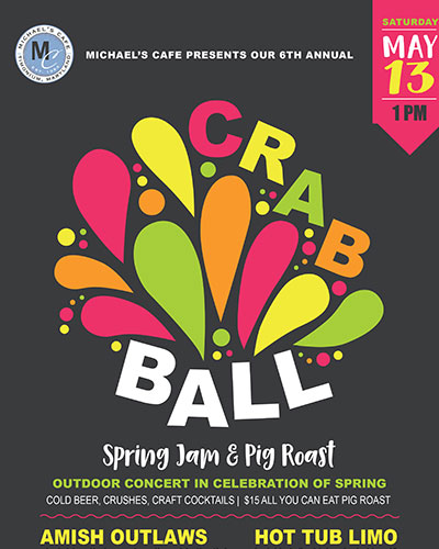 Michael's Cafe Crab Ball poster