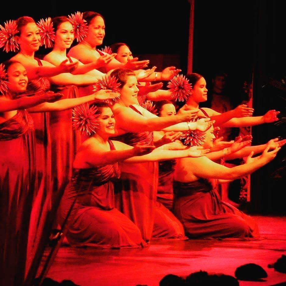 Our wahine (ladies) sharing a beautiful hula!