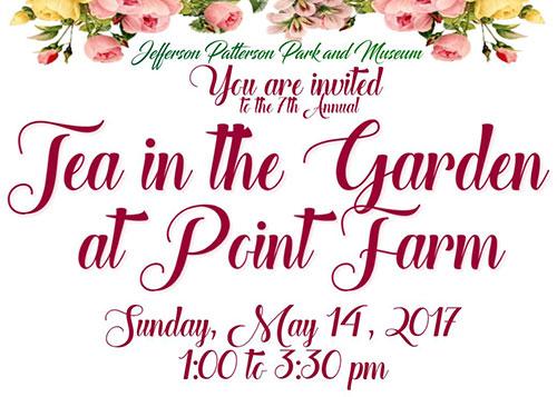 Tea in the Garden at Point Farm flyer