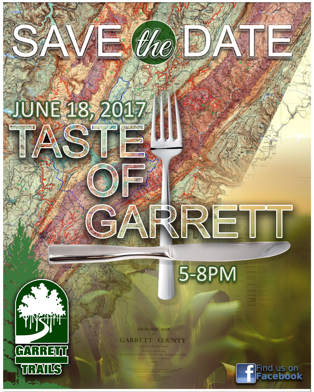 Save the Date for Taste of Garrett flyer