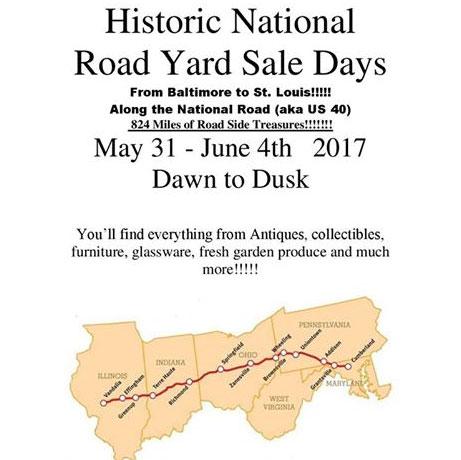 2017 Historic National Road Yard Sale