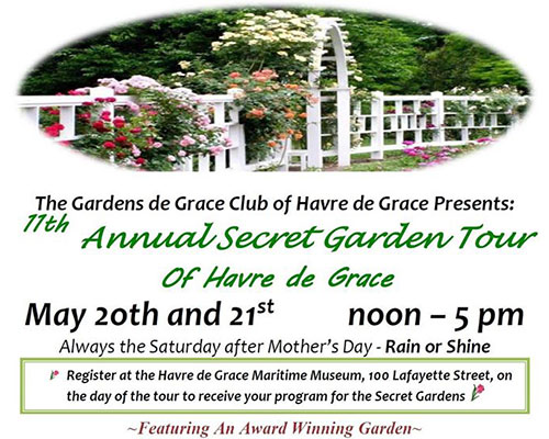 Secret Garden Tour of Havre de Grace flyer