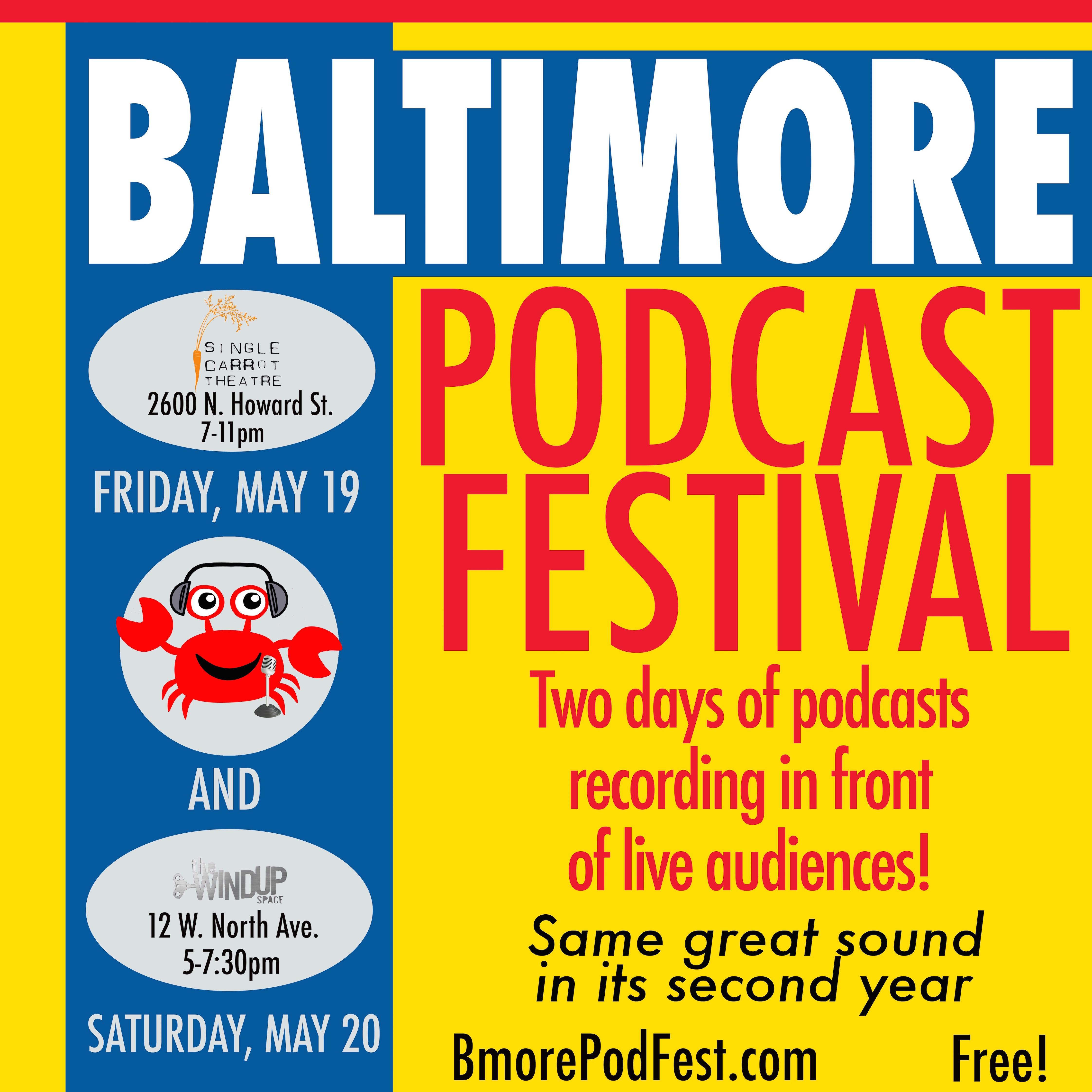 Baltimore Podcast Festival Poster