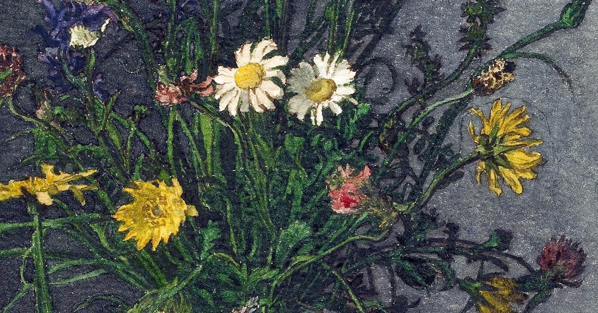 Vase of Flowers; Leon Bonvin; 1863