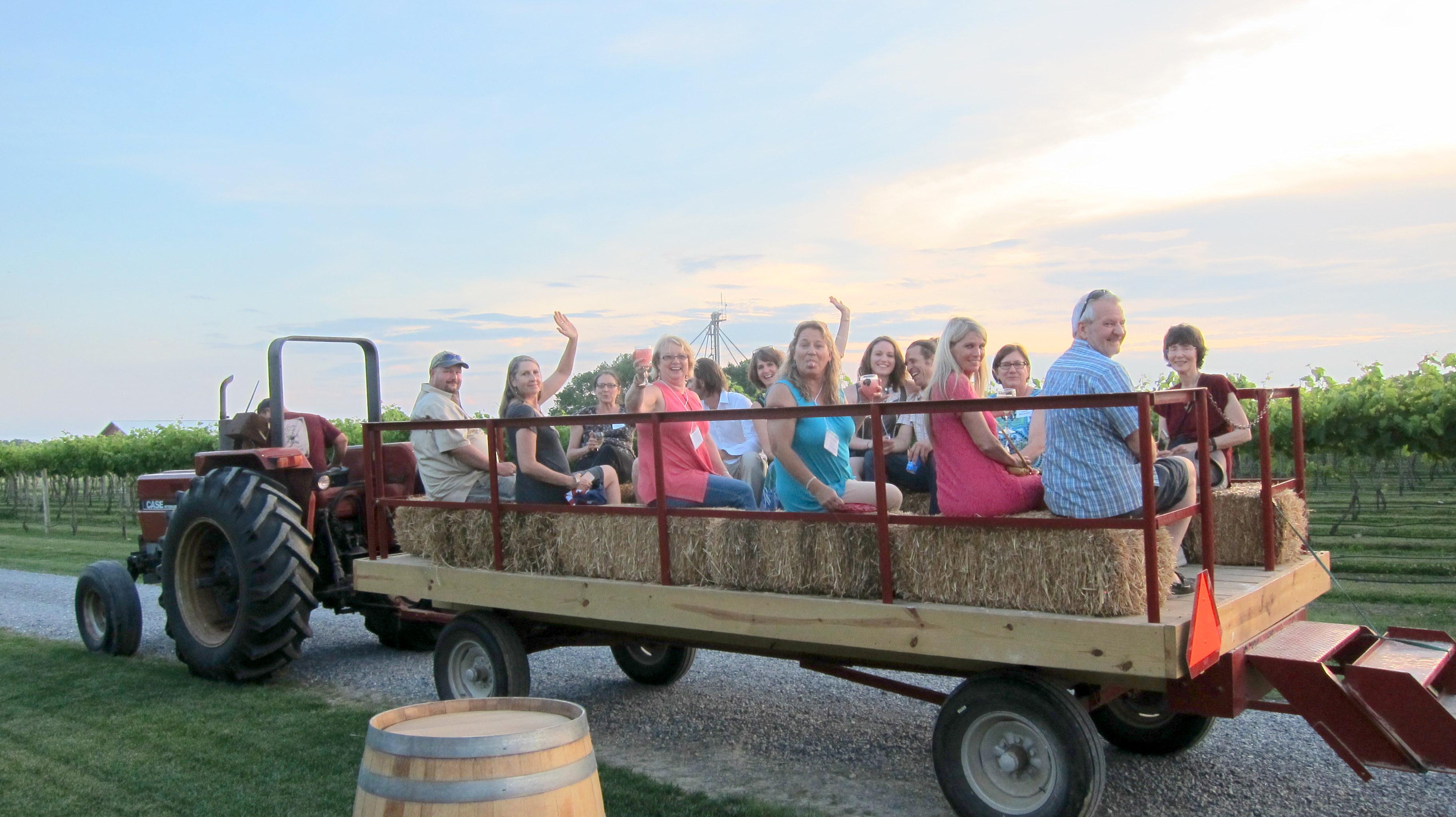 Hayride Winery Tour