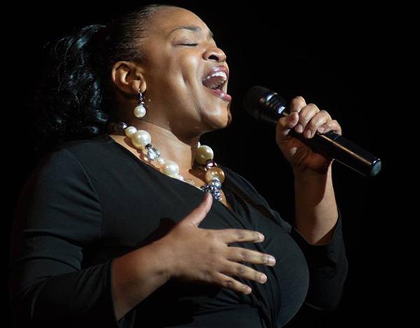 Gospel blues singer Angela Hill