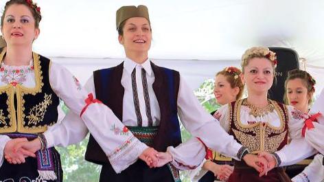 Dancers on Stage at Serb Fest