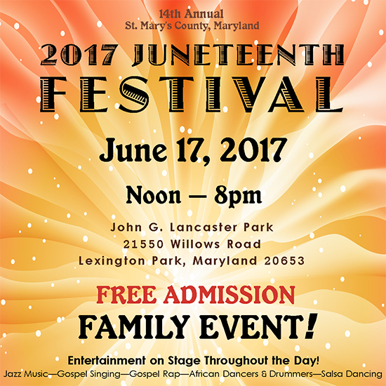 Juneteenth Festival Flyer for 2017