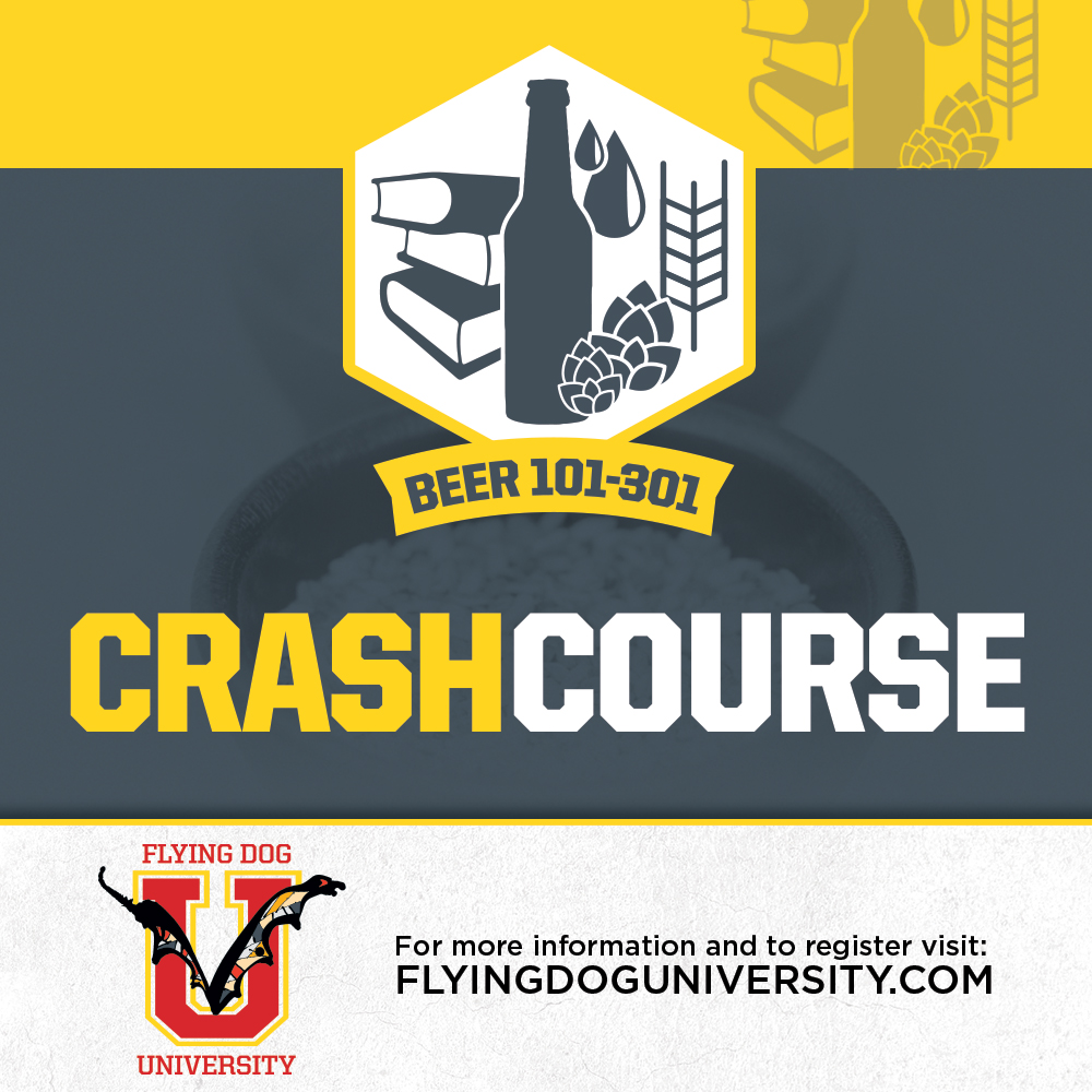 Flying Dog Univ Beer Crash Course poster