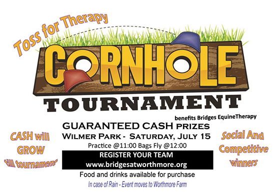 Toss For Therapy Cornhole Tournament flyer