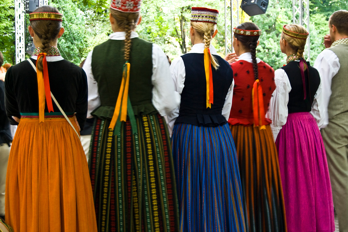 Latvian folk dancers