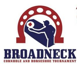 Broadneck Cornhold and Horseshoe Tournament flyer