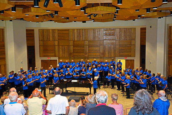 Encore Chorale performing at Washington College