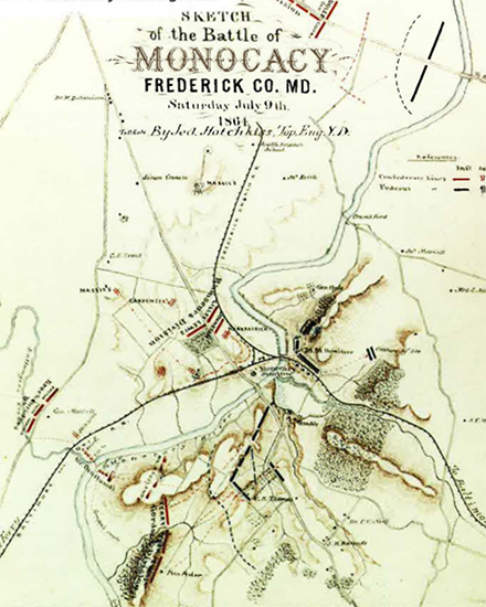 Sketch of the Battle of Monocacy