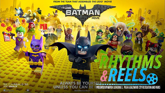 Rhythms and Reels - The Lego Batman Movie poster