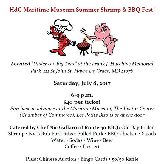 Maritime Museum's Shrimp/BBQ Fest flyer