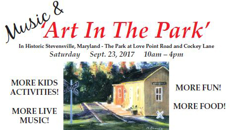 Music and Art in the Park poster art