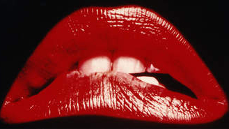 Image of red lips from Rocky Horror film