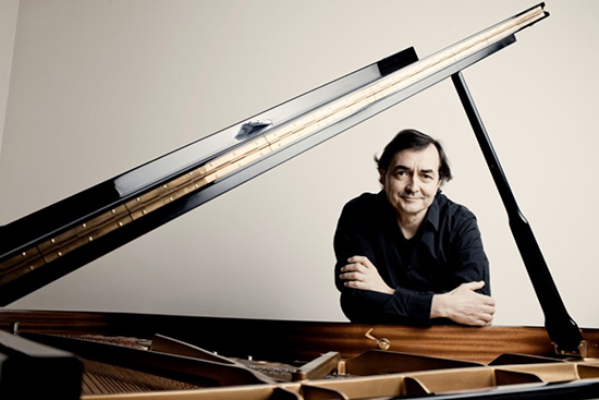 Pierre-Laurent Aimard with a Piano