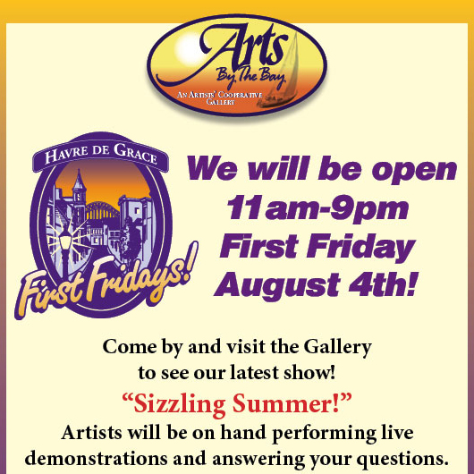 Arts by the Bay First Friday flyer