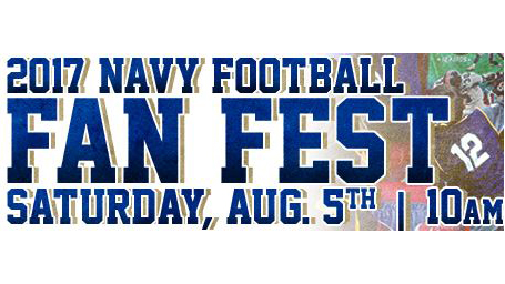 2017 Navy Football Fan Fest poster