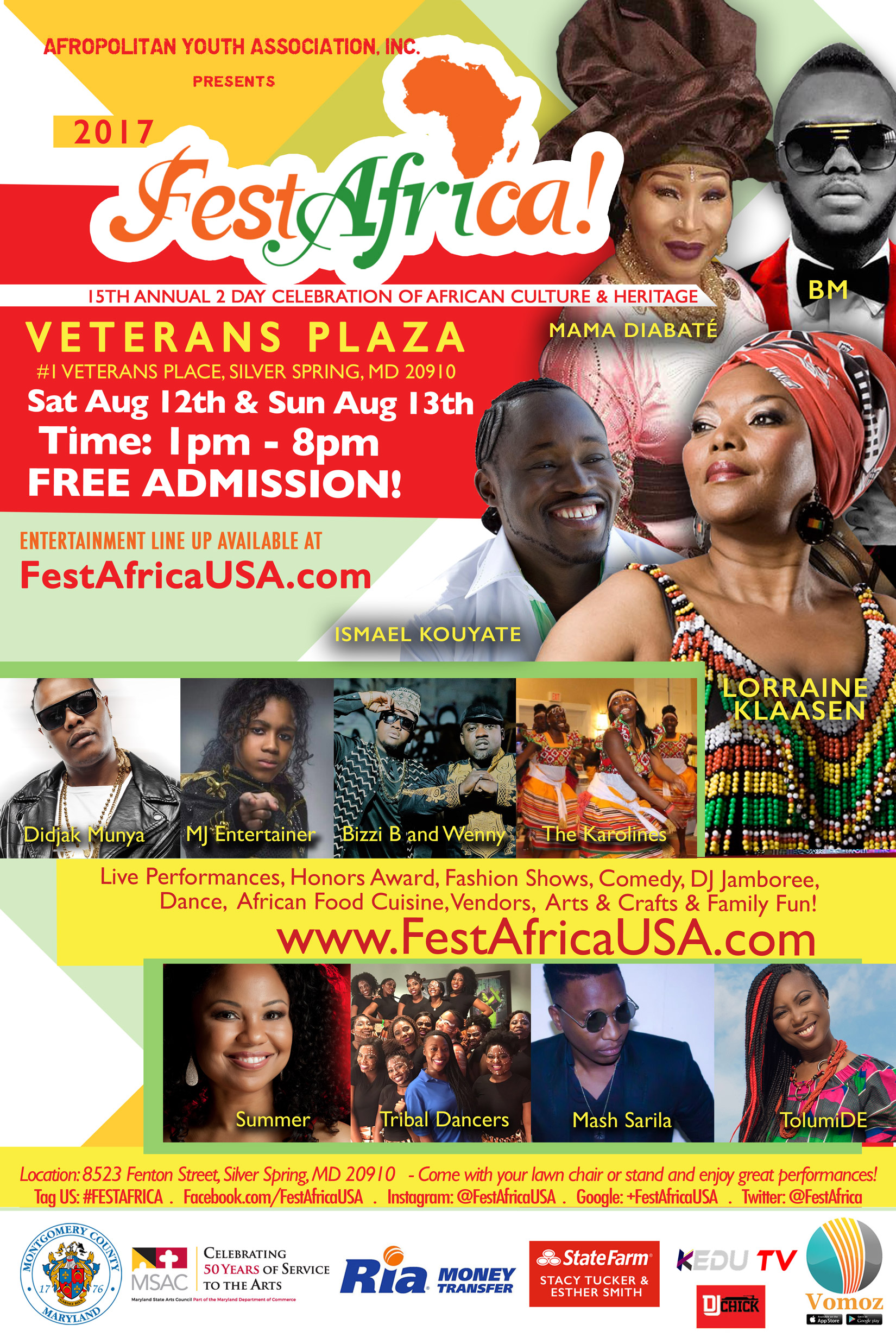FestAfrica 2017 Performers Flyer