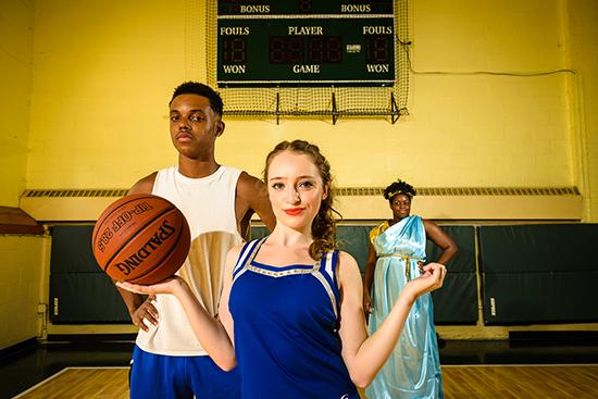 Lysistrata Jones on a basketball court
