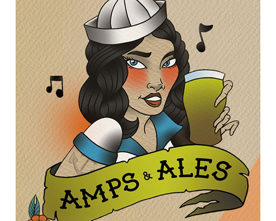 Amps & Ales logo artwork