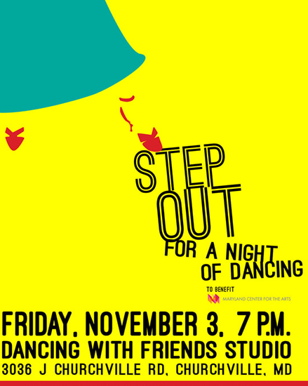 Step out for a Night of Dancing poster
