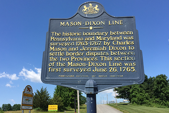 The Mason-Dixon Line Historical Marker