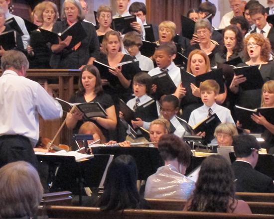 Bach Concert Choir Performing