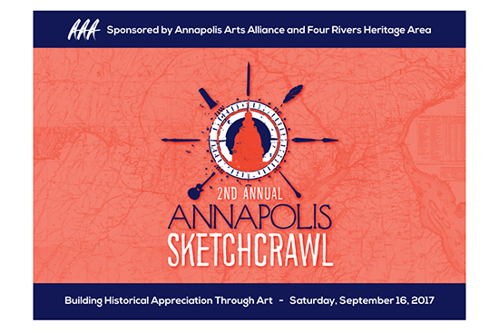 Poster for the 2nd annual Annapolis Sketchcrawl