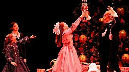 The Nutcracker performed on stage