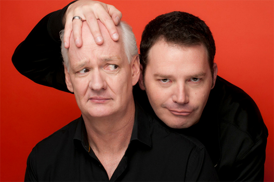 Photo of Colin Mochrie & Brad Sherwood.