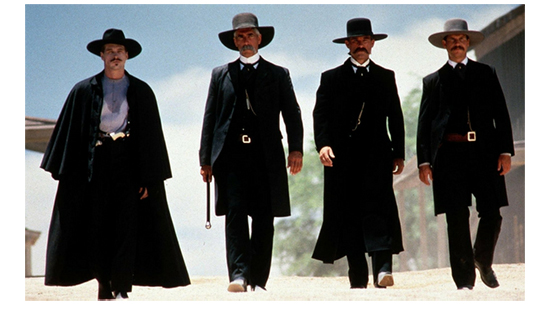Photo of four main characters from Tombstone