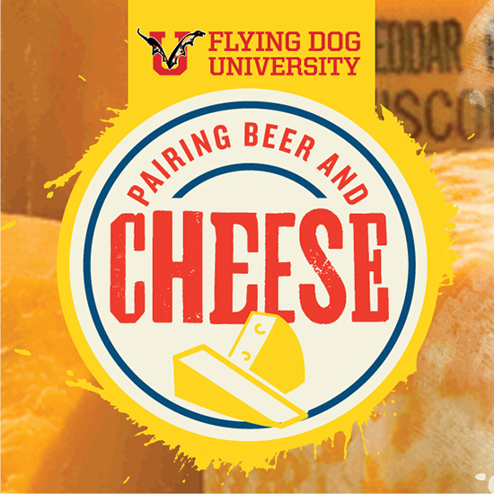 Flying Dog University Beer and Cheese logo