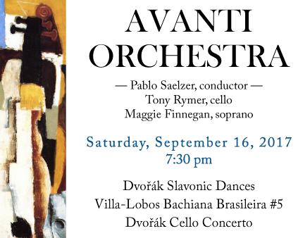 Avanti Orchestra Concert Notice