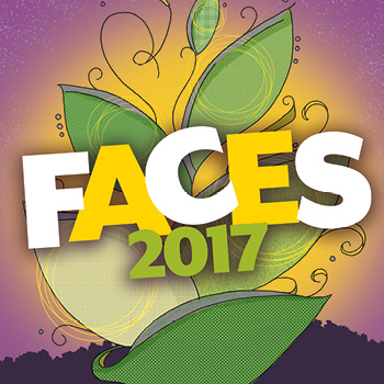 Colorful logo for the FACES 2017 event
